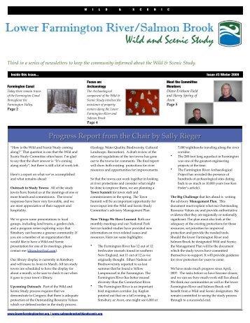 Winter 2009 Newsletter - Lower Farmington River & Salmon Brook ...