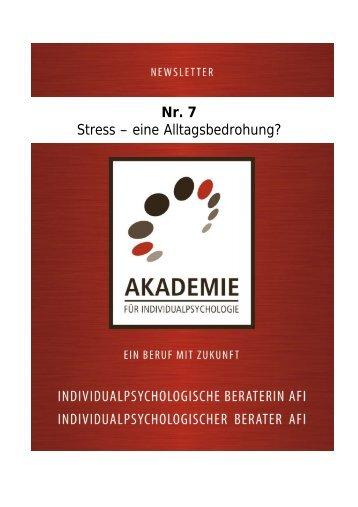 Nr. 7 Stress – eine Alltagsbedrohung? - Akademie für ...