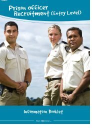 Information Booklet PDF FINAL - Department of Corrective Services