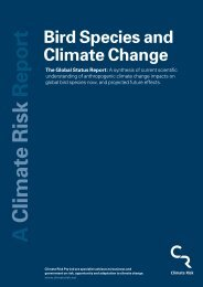 Bird Species and Climate Change: The Global Status Report - WWF