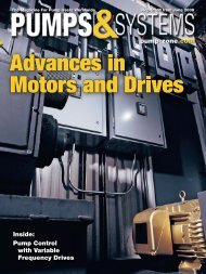 Pump Control with Variable Frequency Drives - Hitachi America, Ltd.