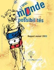 Rapport annuel 2002 - LOJIQ