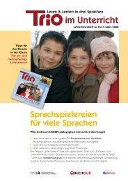 Trio 5 im Unterricht - Schule mehrsprachig