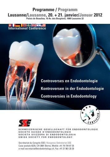 Programme / Programm Lausanne/Lausanne, 20. + 21. janvier ...