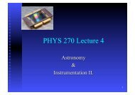 PHYS 270 Lecture 4 - Physics and Astronomy