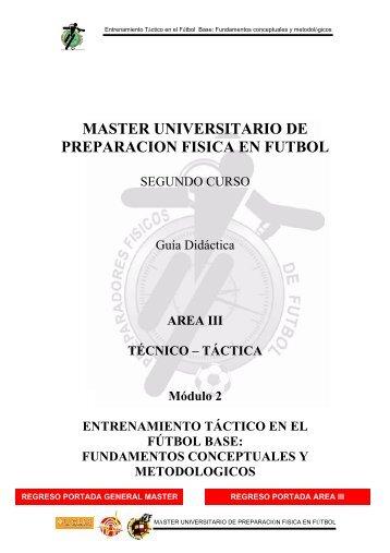 master universitario de preparacion fisica en futbol - Webnode