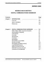 Series 2000 Communications Handbook