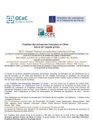 Trophées des entreprises françaises en Chine : Seb et Air ... - ccifc