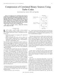 Compression of correlated binary sources using turbo codes - IEEE ...