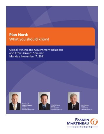 Plan Nord: What you should know! - Fasken Martineau