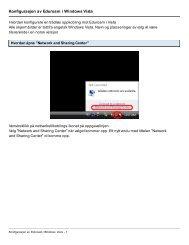 Oppsett av eduroam - Windows Vista