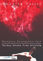 Step by Step guide on Smoking Policy Development - Torbay Council