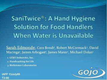 Non Alcohol Hand Sanitizers: Quaternary Ammonium Compounds