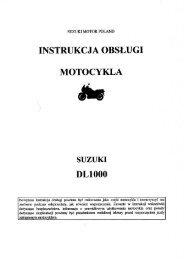 INSTRUKCJA OBSŁUGI - Suzuki Motor Poland