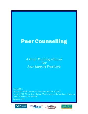 Peer Counselling - Caribbean HIV/AIDS Alliance