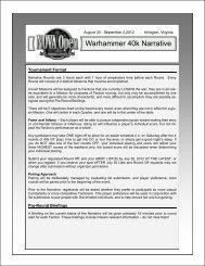 Warhammer 40k Narrative - NOVA Open