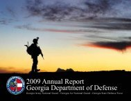 2009 Annual Report Georgia Department of Defense