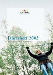 Jahresheft 2003 - Murg Stiftung