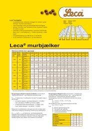 Brochure: Leca® murbjælker - Weber