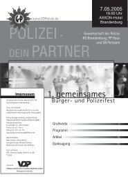 1. gemeinsames - bei Polizeifeste.de