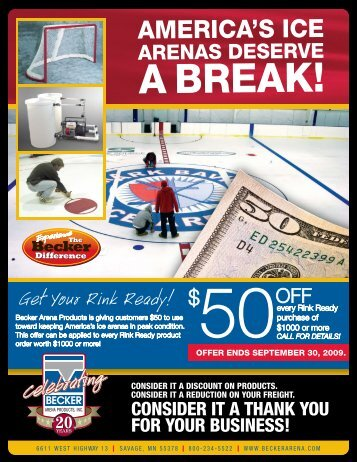 rink ready pricing - Becker Arena Products, Inc.