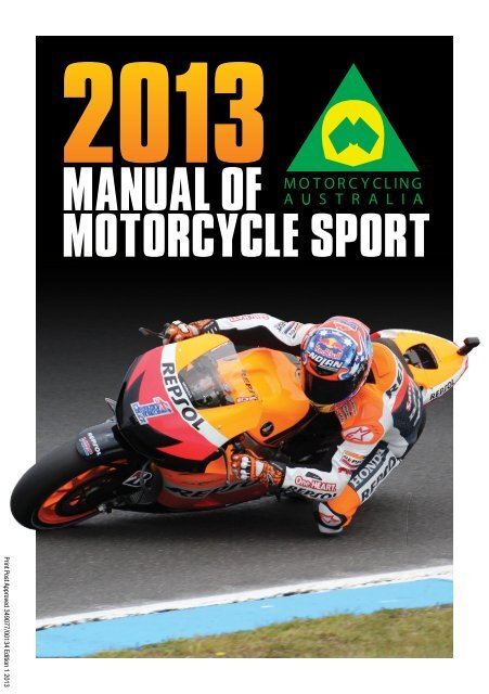 2013 Manual of Motorcycle Sport - Motorcycling Australia