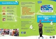Flyer Emmi SNOWstar Tour 2012 - Europäischer Skiverband