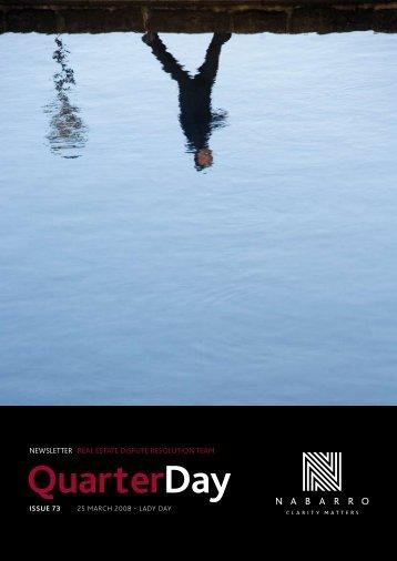 QuarterDay - Nabarro