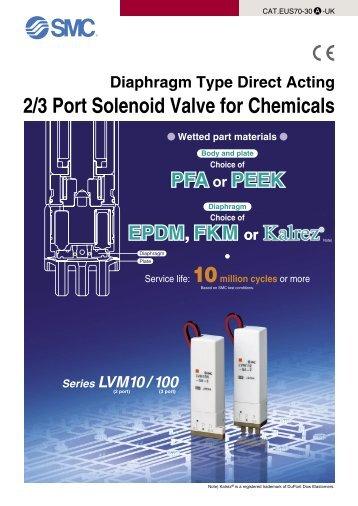 2/3 Port Solenoid Valve for Chemicals - SMC