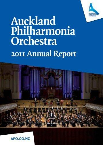 2011 Annual Report - the Auckland Philharmonia