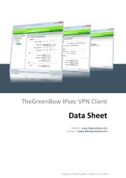 Datasheet - TheGreenBow