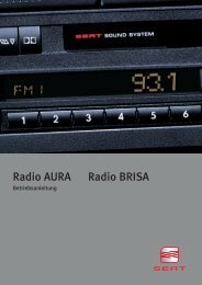 Radio AURA Radio BRISA - Seat