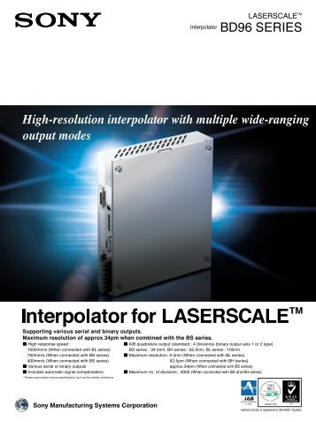 Interpolator for LASERSCALETM
