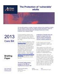 Care Bill - Action on Elder Abuse