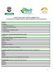 linee guida educazione ambientale in tema di valorizzazione aree di ...