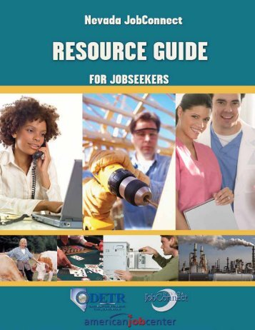 View the Resource Guide for Job Seekers - Nevada Department of ...