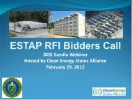 Download Webinar pdf (413 KB) - Clean Energy States Alliance