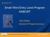 Small Wind Entry Level Program NABCEP - Small Wind Conference