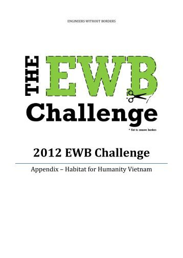 engineers without borders challenge 2012 Key resources for the engineers without borders challenge 2018 librarysearch login first for full access (new window) start searching to find ebooks, books, journal articles, conference  search these databases to find scholarly articles, conference papers and other materials for the ewb challenge: proquest.