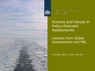 Science and Values in Policy-Relevant ... - Berlin Conference