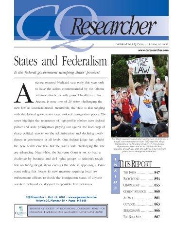 federalism-CQresearcher - Rowland High School