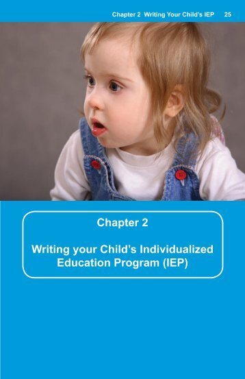 Chapter 2 Writing your Child's Individualized Education Program (IEP)