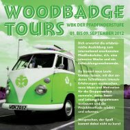 tourS woodbadge tourS woodbadge WBK der ... - DPSG Passau