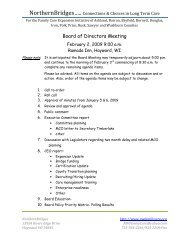 Board Agenda - Northern Bridges