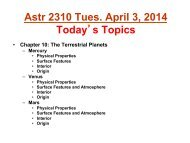 Chapter 9: Telescopes And Detectors - Department of Physics ...
