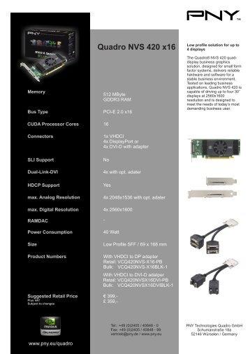 Quadro NVS 420 x16 - PNY