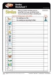 Similes Worksheet 1 - TTS