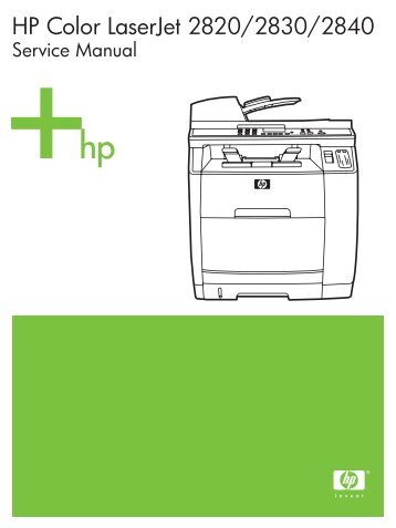 hp color laserjet 2820 2830 2840 service manual market point rh yumpu com
