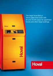 The large Hoval BioLyt Wood pellet fired boiler with 50 ... - ProIdea