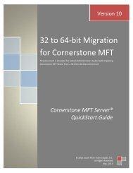 32 to 64-bit Migration for Cornerstone MFT - South River Technologies